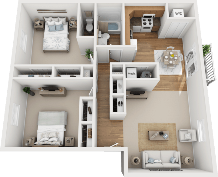 The Aspen Floor Plan, Kimber Green, Evansville, Indiana