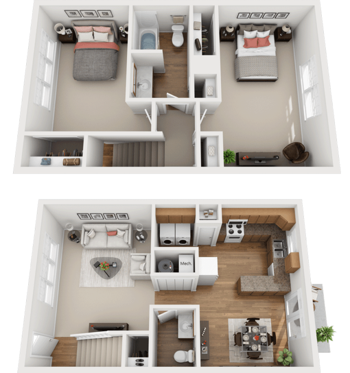 The Willow Floor Plan, Kimber Green, Evansville, Indiana