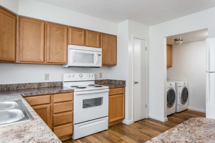 kitchen with laundry